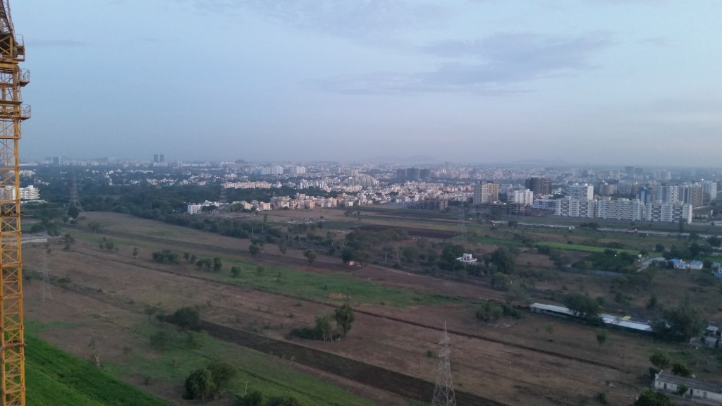Pune India from the 22nd floor