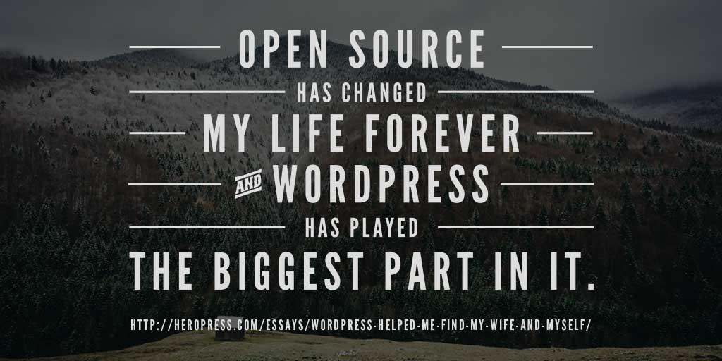WordPress Helped Me Find My Wife and Myself