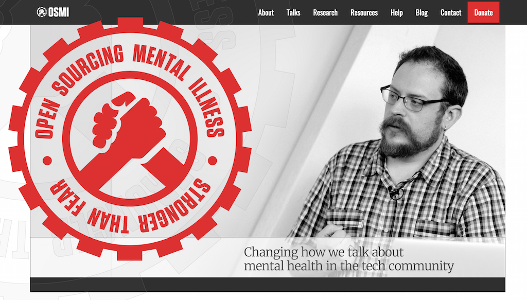 Banner for OSMI, Open Sourcing Mental Illness