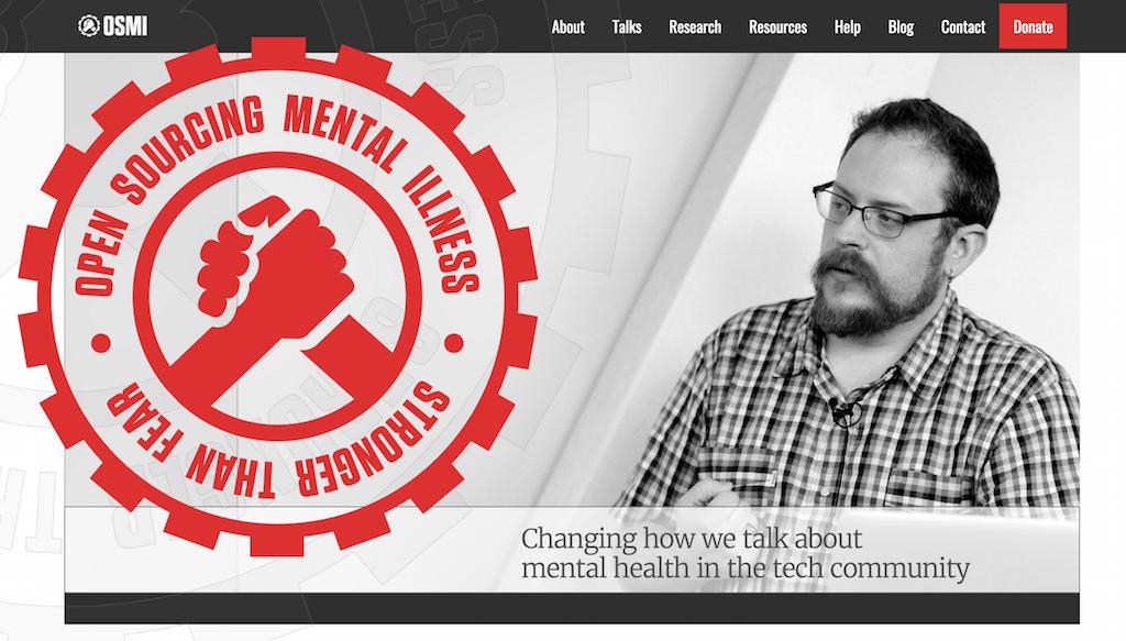 Banner for OSMI, Open Sourcing Mental Illness