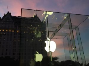 I worked at the iconic glass cube on Fifth Avenue in New York (we often called it the Fruit Stand). This was taken on my last morning of work before setting off for the great unknown.