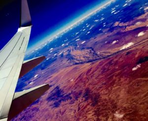 40,000 feet over the Australian outback, on my way to Bali, it seemed like I was over an alien planet.