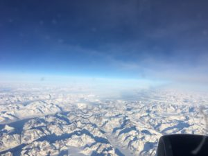 The view from the plane over Greenland, as I was finally on my way back home.