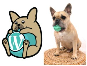 Wabully with a real French Bulldog