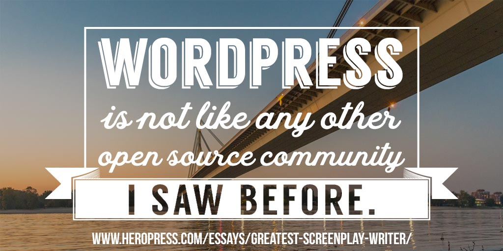 The Greatest Screenplay Writer