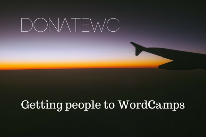 DonateWC: Getting People to WordCamp