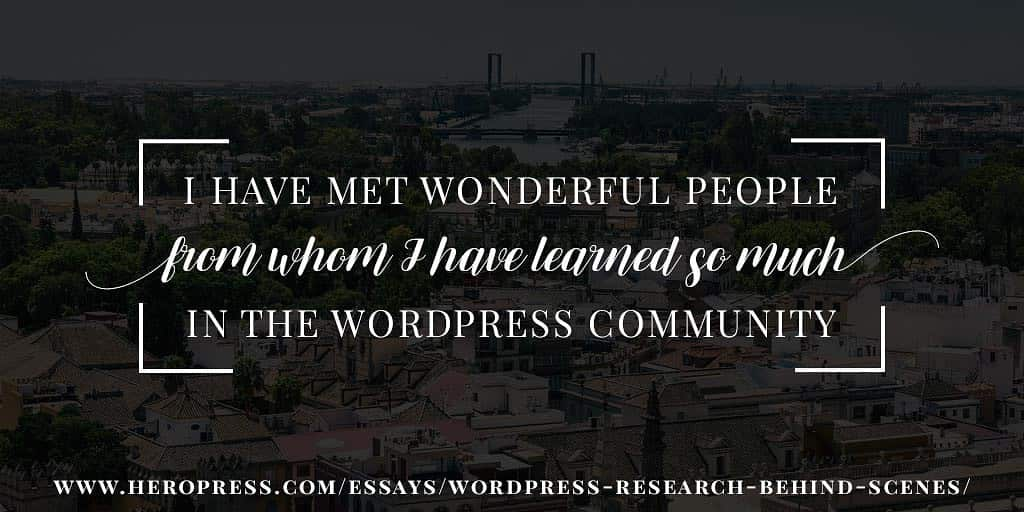 Pull Quote: I have met wonderful people from whom I have learned so much in the WordPress community.
