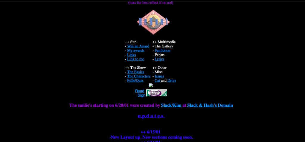 Old Website, best viewed on AOL