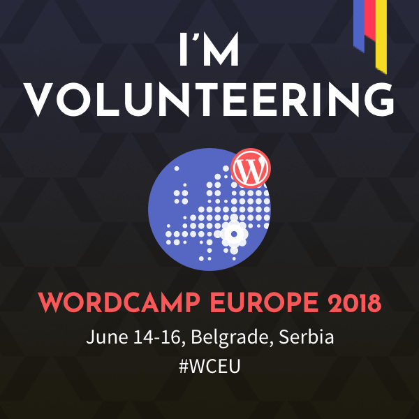 WCEU Volunteer Badge