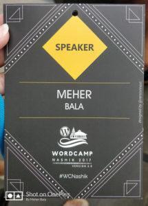 Speaker Badge - WC Nashik 2017