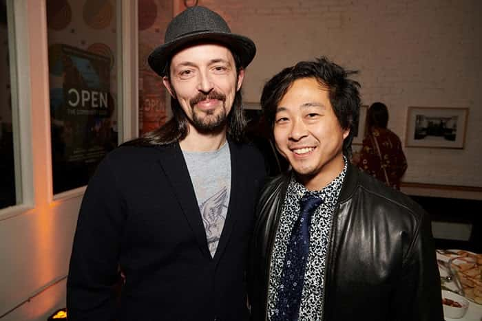 Tyler Lau with Alain Schlesser at the Open Film premiere at WCUS 2019 in St.Louis.