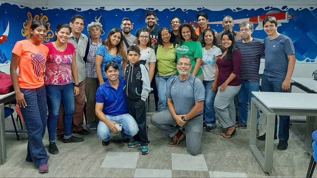 Farewell photo of one of the events organized by the community of Guarenas-Guatire