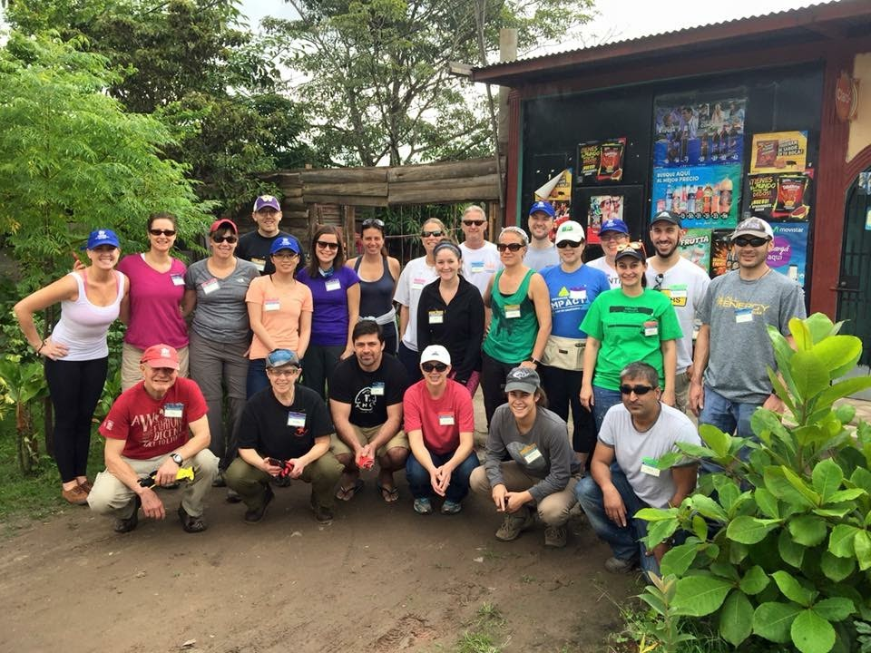 Team photo of building homes in Estelí, Nicaragua