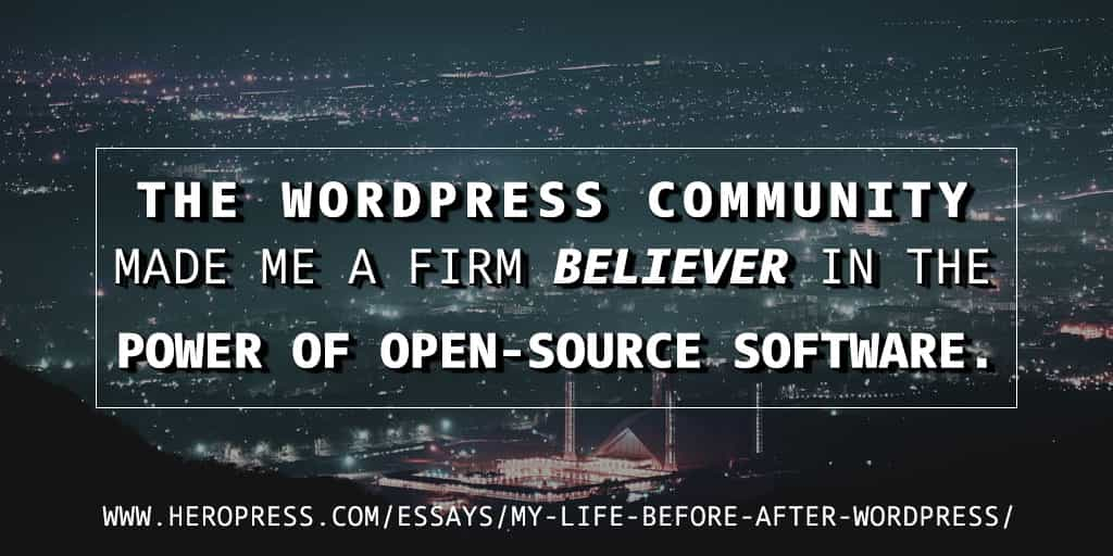 My Life Before & After WordPress