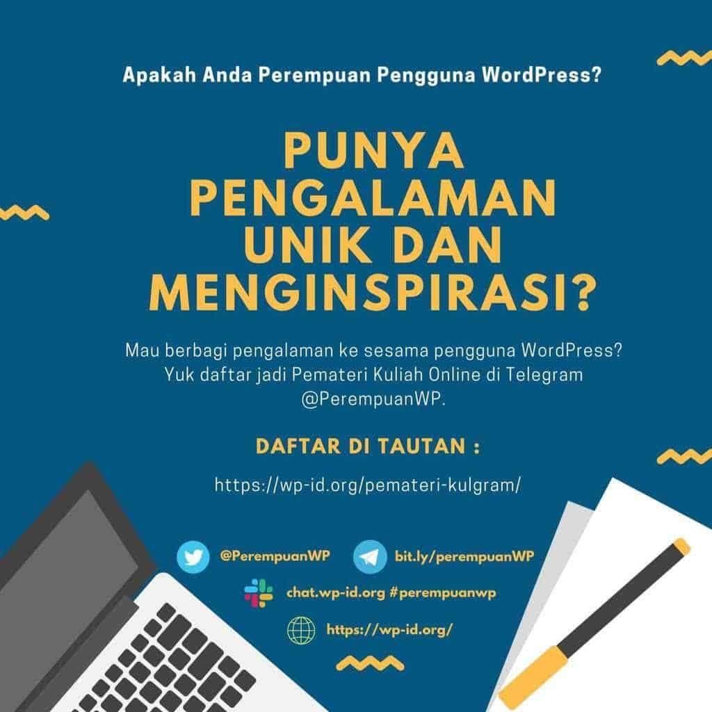 Digital postcard, written in Indonesian